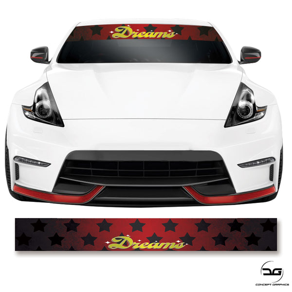 Dreams JDM Sunstrip Windscreen Banner Dub Printed
