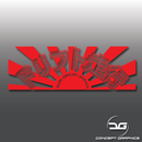 Kanji Drifting JDM Rising Sun Vinyl Decal Sticker Red