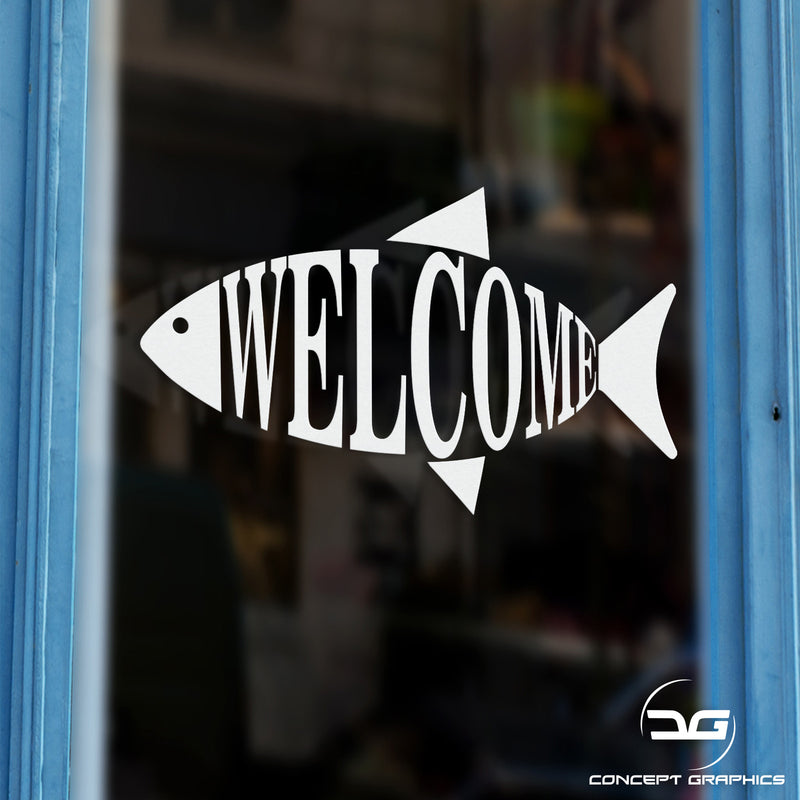 Fish & Chip Shop Welcome Window Door Vinyl Decal Sticker Sign