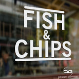Fish & Chips Takeaway Window Vinyl Decal Sign Graphic