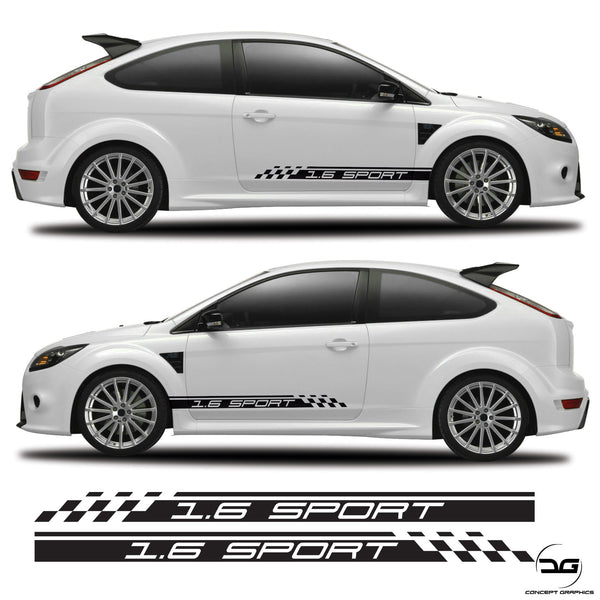 1.6 Sport Side Stripes Fits Ford Focus RS Mk2 2.5