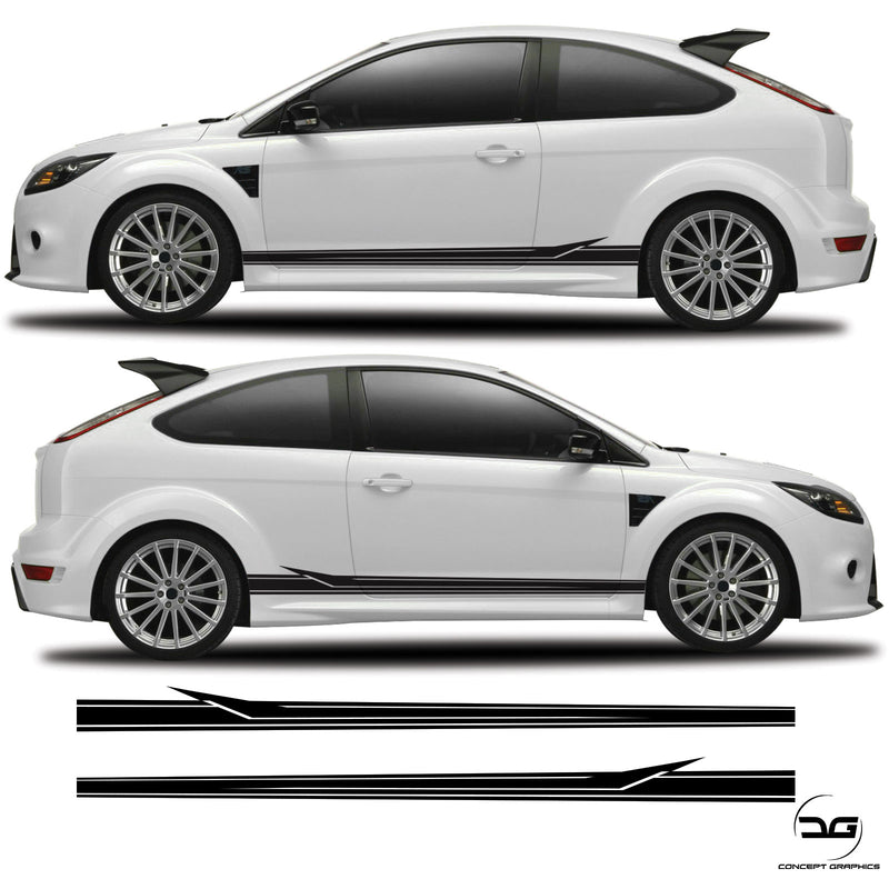Ford Focus Arrow Side Stripes MK2 ST RS Vinyl Stickers