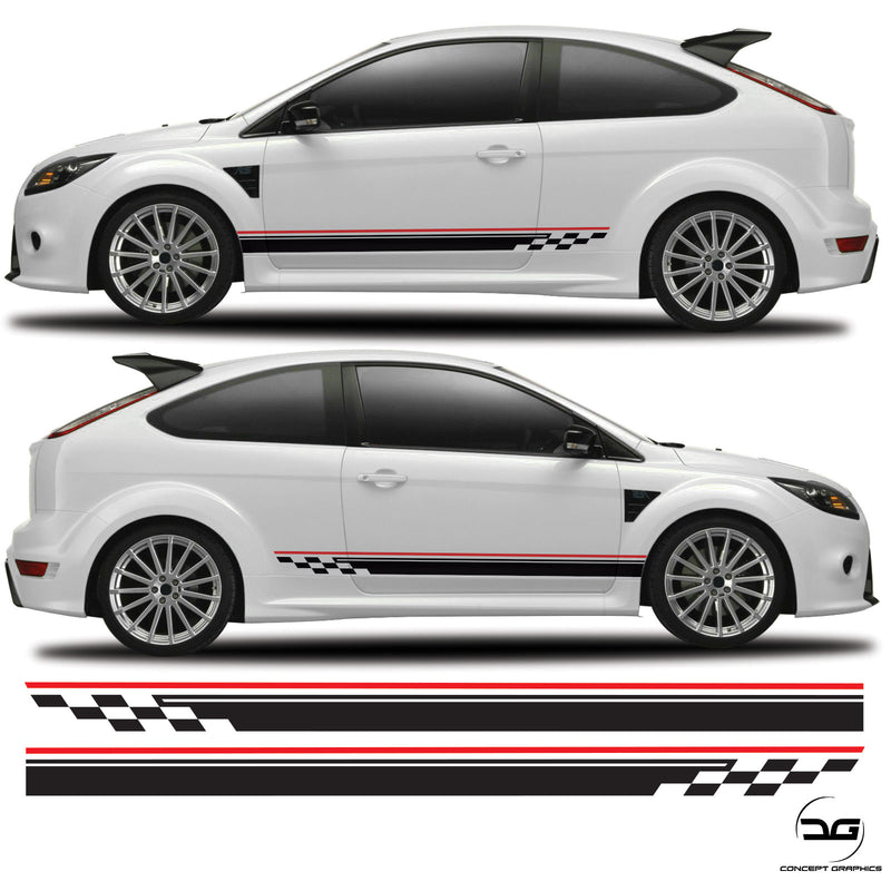 Ford Focus Mk2 RS ST Racing Stripes