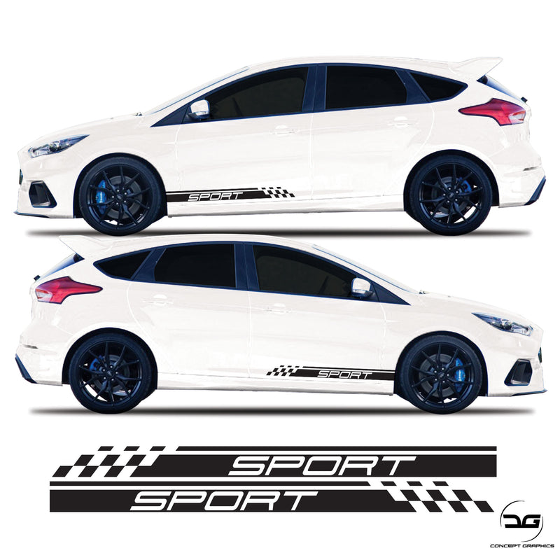 Ford Focus MK3 Eco Boost 1.0 Sport Side Stripes