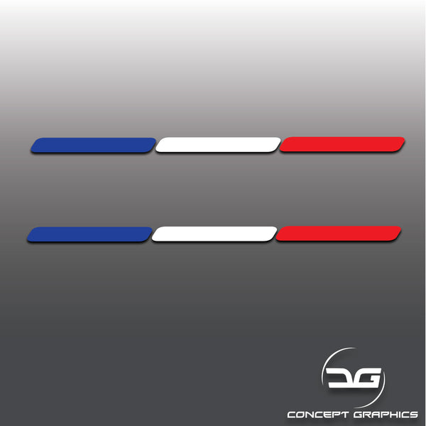 2x French Flag Stripe Car Vinyl Decal Stickers