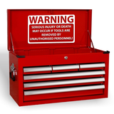 Funny Warning Serious Injury Quote Joke Novelty Garage Workshop Tool Box Vinyl Decal Sticker