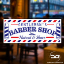 Gentleman's Barber Shop Hair Cut & Shave Colour Window, Wall, Door Vinyl Decal Sticker Sign