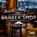 Gentleman's Barber Shop Window Wall Advertising Business Vinyl Decal Sticker Sign