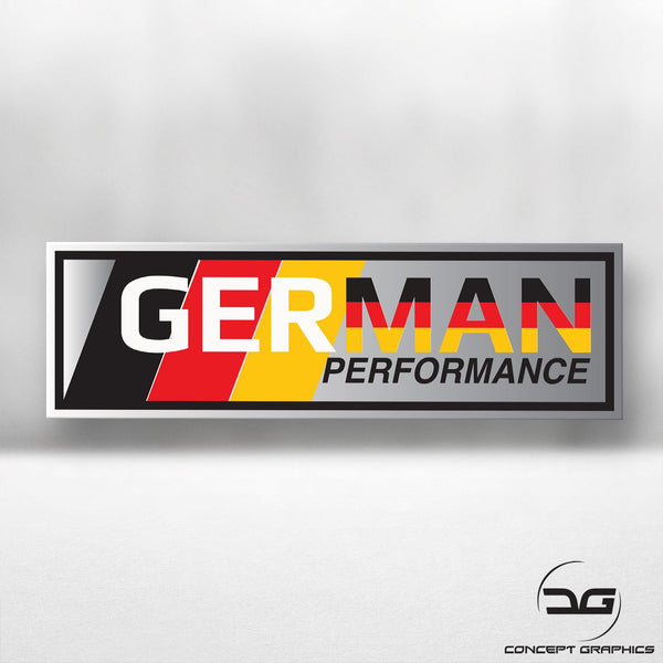 German Performance Funny Novelty Euro Car Vinyl Decal Sticker