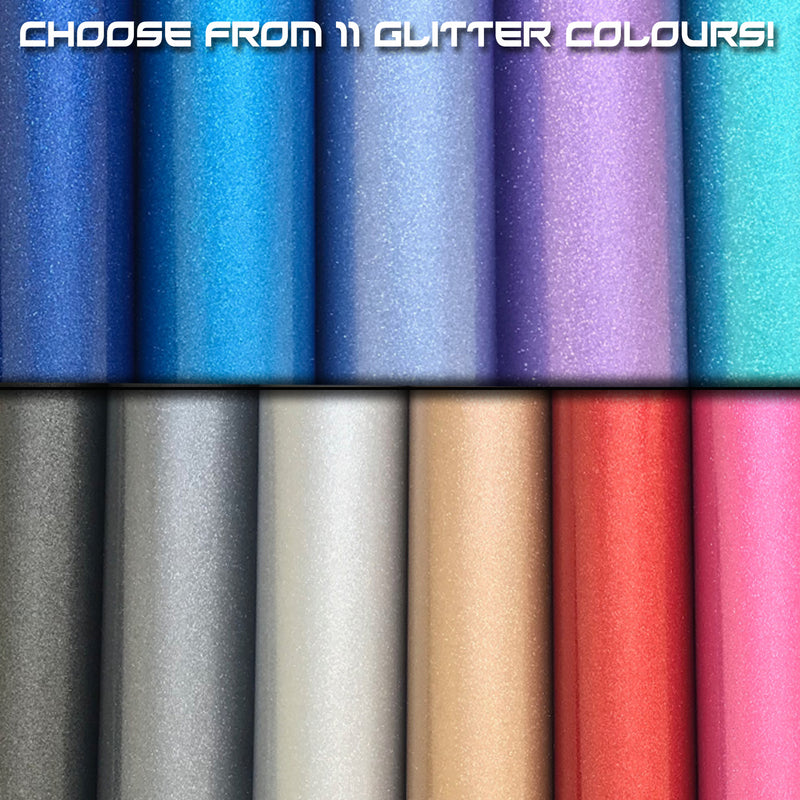 Concept Graphics Glitter Vinyl Stickers Colours To Choose From