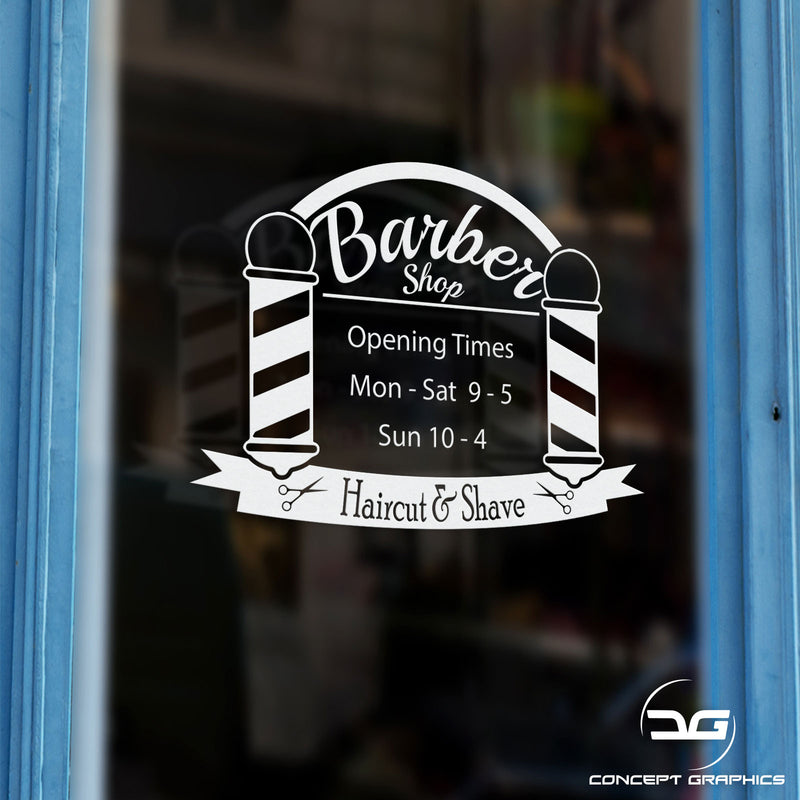Barbershop Custom Personalised Opening Times Sign