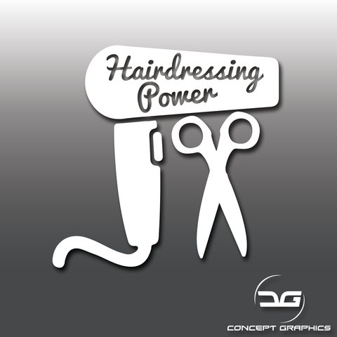 Hairdressing Power Funny Vinyl Decal Sticker