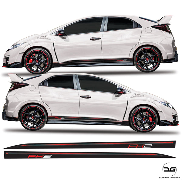 Honda Civic Type R FK2 Lower Side Stripes