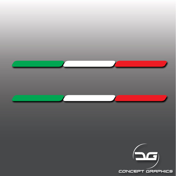 2x  Italy Italian Flag Stripe Euro Car Vinyl Decal Stickers