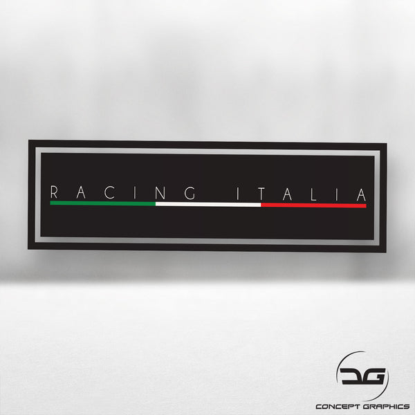 Racing Italia Italian Flag Euro Car Vinyl Decal Slap Sticker