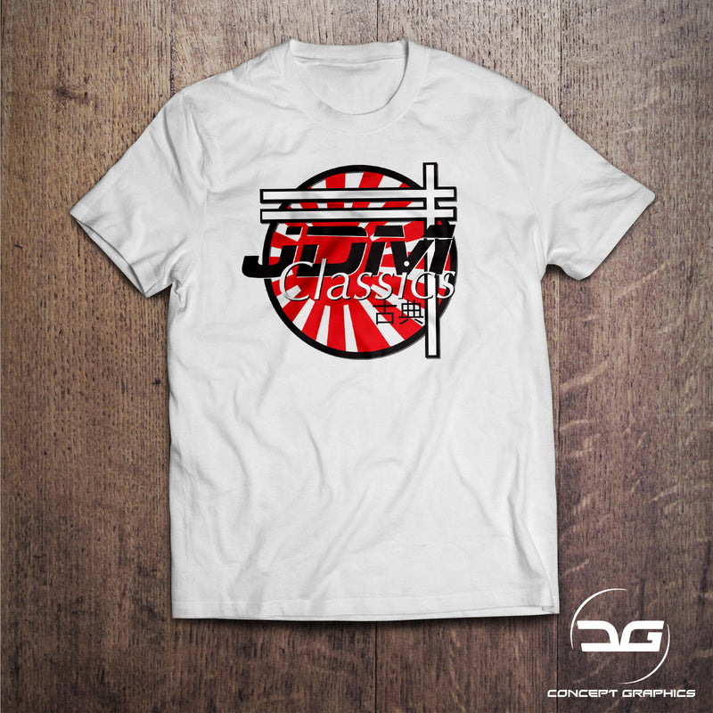 JDM Classics Funny Japanese Drift Car Enthusiasts Mazda Toyota Nissan T-Shirt
