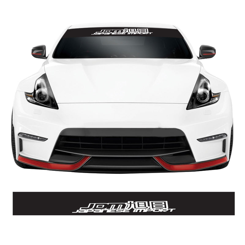 Japanese Imports JDM Car Windscreen Sunstrip Banner Vinyl Decal Sticker