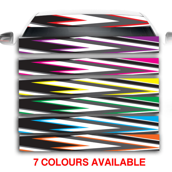 Arrow Effect Car Windscreen Sunstrip Banner Vinyl Decal Sticker
