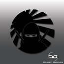 JDM Ninja Rising Sun Vinyl Decal Sticker
