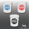 Large Japanese Themed Car Detailing Wash, Rinse & Wheels Vinyl Bucket Stickers on Buckets