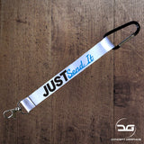Just Send It Funny JDM Car Mini Lanyard Keyring Blue