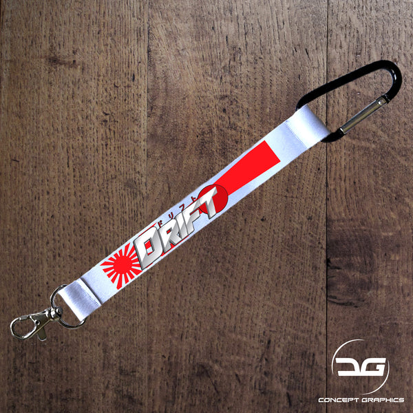 JDM Apparel Rising Sun Kanji Drift Mini Lanyard Car Keyring