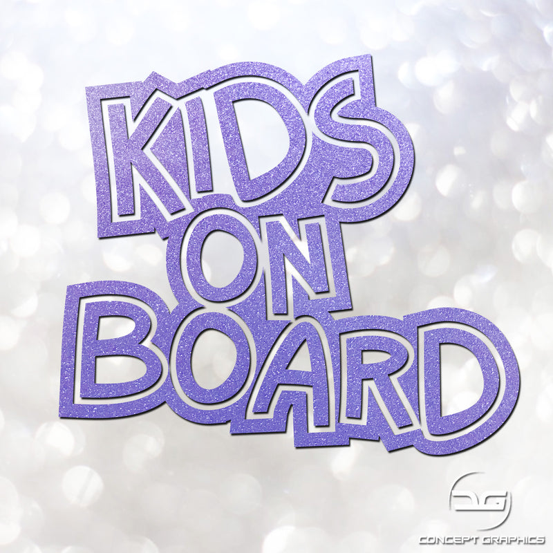 Kids On Boards Safety Glitter Vinyl Decal Car Sticker Safety Sign Child On Board Sticker