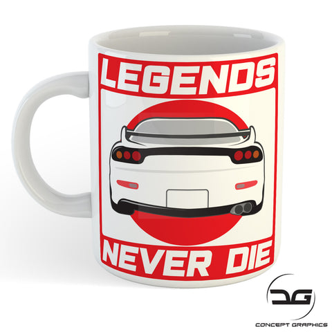 Legends Never Die JDM Inspired RX7 Coffee Cup/Mug