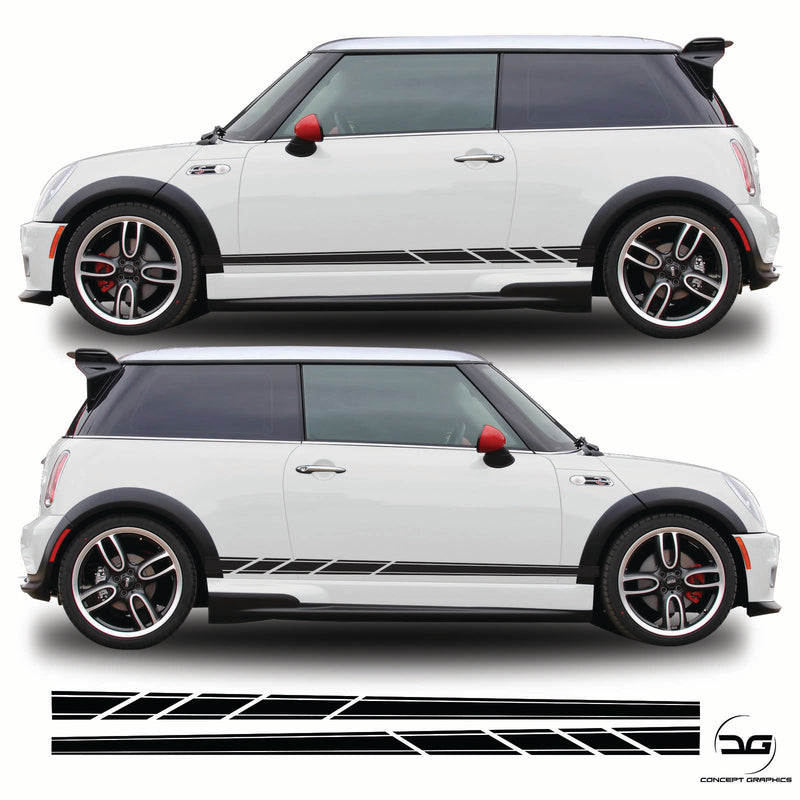 Mini Cooper S R53 Side Stripes Kit JCW