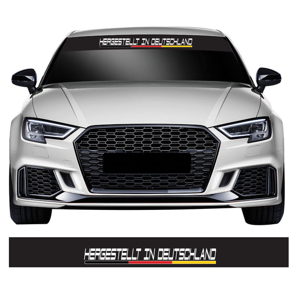 Made In Germany Flag Euro/DUB Car Windscreen Sunstrip Banner Vinyl Decal Sticker