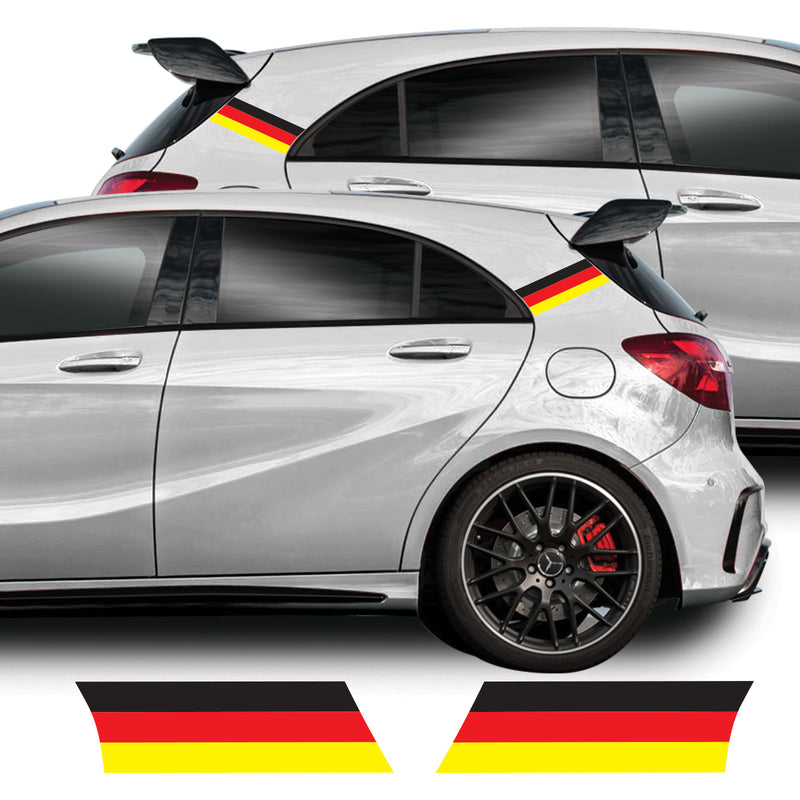 Mercedes A Class 2013 - 2018 W176 A45 AMG German Flag C-Pillar Vinyl Decal Sticker Graphics