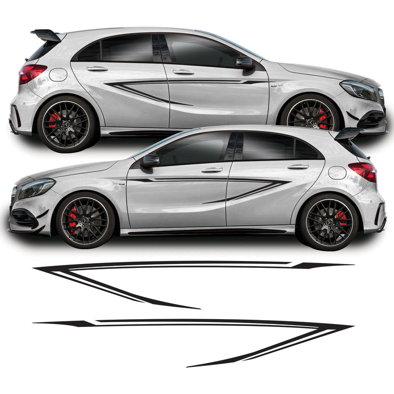 Mercedes A Class 2013 - 2018 W176 A45 AMG Door Side Stripe Vinyl Decal Sticker Graphics