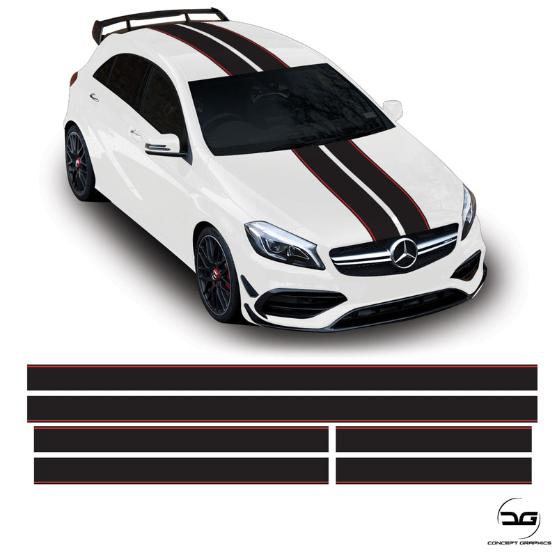 Class A45 Mercedes-Benz Full Body Racing Stripe Kit