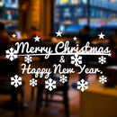 Merry Christmas & Happy New Year Retail Business Shop Vinyl Window Wall Sign