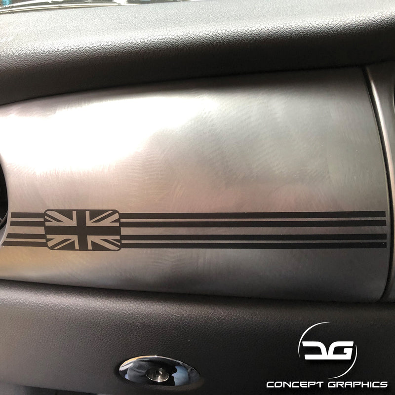 Mini Cooper R53 JCW, GP, One Union Jack Dashboard Vinyl Decal Sticker