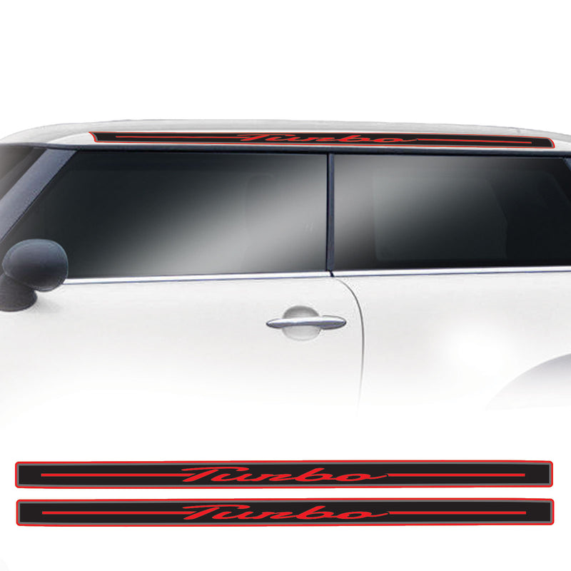 Mini Cooper Gen 2 R56 2006 Onwards Turbo GP Style Roof Stripe Vinyl Decal Sticker Graphics