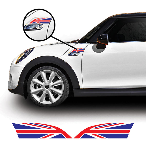 Mini Cooper F56 Gen 3 2014 Onwards Union Jack Side Wing Vinyl Decal Sticker Graphics