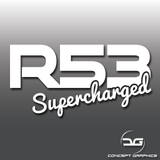 Mini Cooper S R53 Supercharged Car Vinyl Decal Sticker