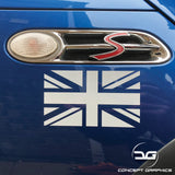 2x Mini Cooper S Union Flag Side Wing Vinyl Decal Stickers