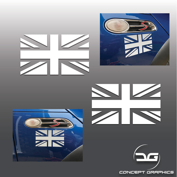 2x Mini Cooper S One R53 R52 Union Flag Wing Vinyl Decal Sticker