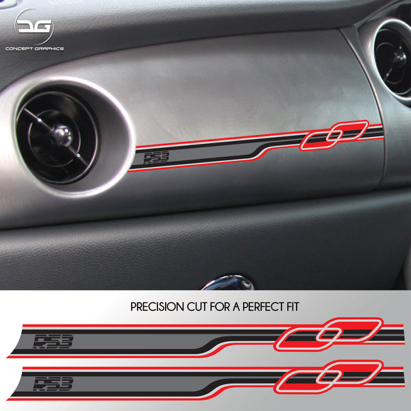 2x Mini Cooper S R53 JCW GP One Race Stripe Dashboard Vinyl Decal Sticker Graphics