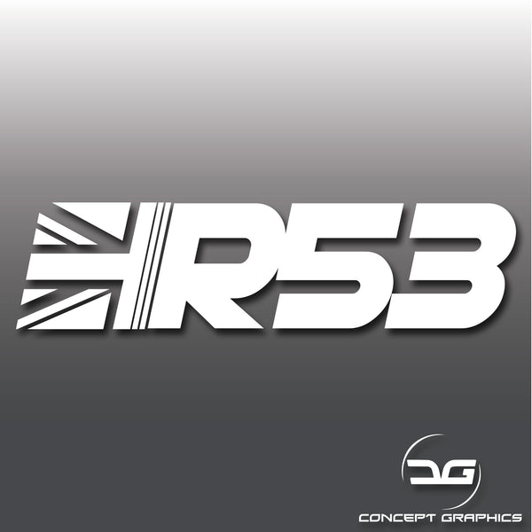 Mini Cooper S R53 Union Jack Car Window Bumper Vinyl Decal Sticker
