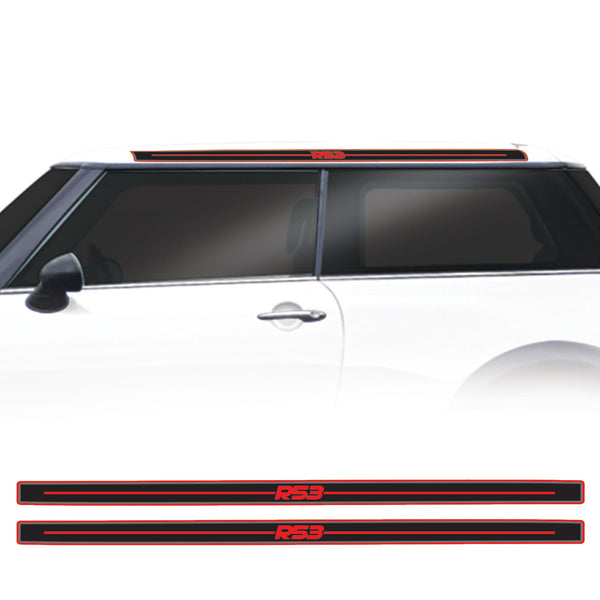 Mini Cooper 2000 Onwards Gen 1 R53 GP Style Roof Stripe Vinyl Decal Sticker Graphics