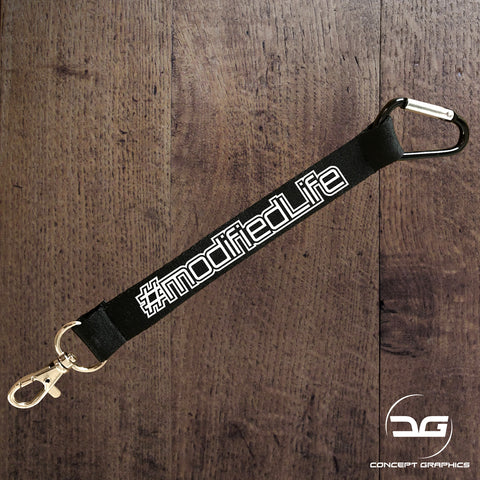 Modified Life Funny Car Mini Lanyard Keyring Keychain