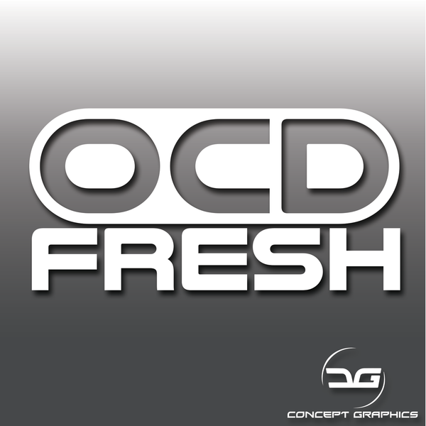 OCD Fresh Car Detailing/Valeting Car Vinyl Decal Sticker