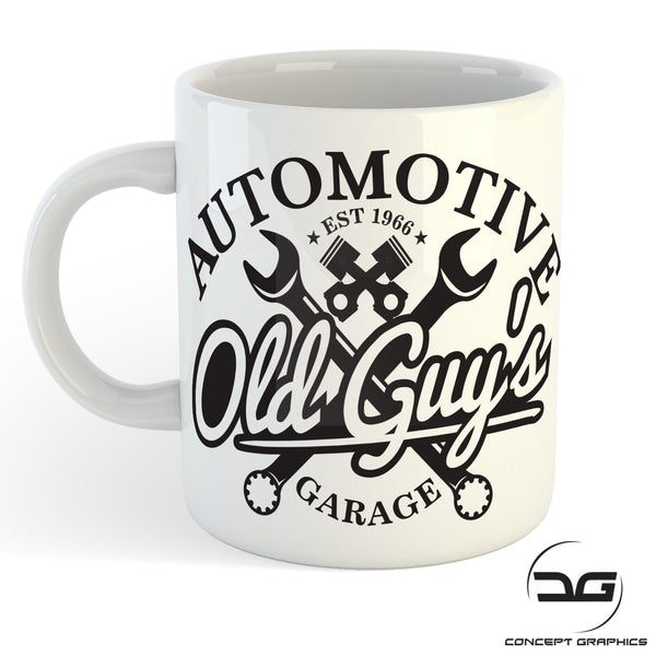 Old Guys Garage Automotive Funny Mechanics Coffee Mug Cup