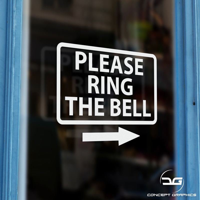 Please Ring The Bell Window Wall Vinyl Decal Sticker Sign Door Example