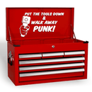 Put The Tools Down & Walk Away Punk Funny Novelty Garage Tool Box Vinyl Decal Sticker