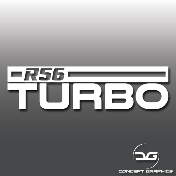 Mini Cooper S R56 Turbo Car Vinyl Decal Sticker