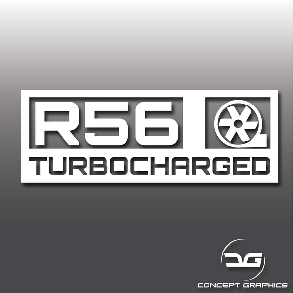 Mini Cooper S R56 Turbocharged Vinyl Decal Sticker Clubman JCW GP